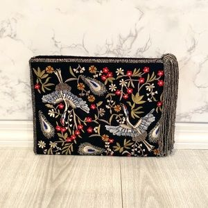 Zara Floral Embroidered Clutch